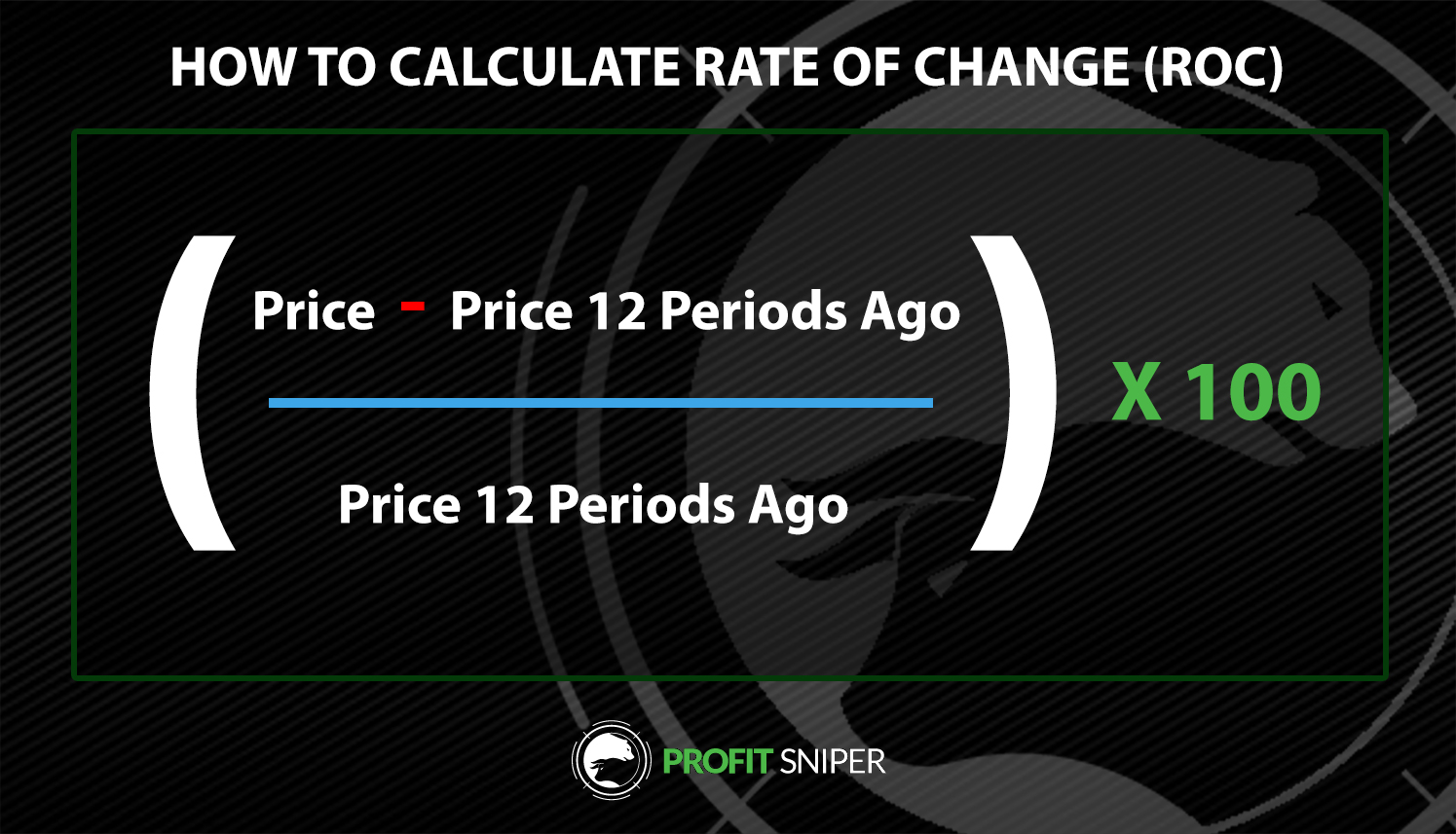 How to calculate Rate of Change in Cryptocurrency